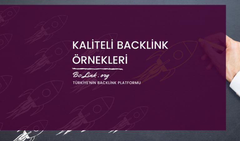 Kaliteli Backlink Örnekleri